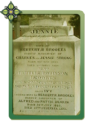 Jennie: first wife of Herbert Brookes & Ivy Brookes