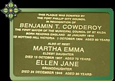 Cowderoy Grave Plaque