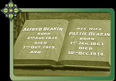 Headstone of Alfred Deakin '; s Grave